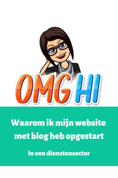 Waarom ik mijn website met blog heb opgestart in een dienstensector