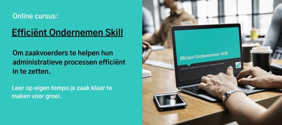 Efficiënt Ondernemen Skill
